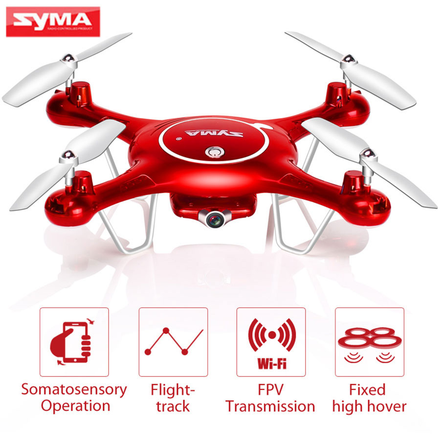 SYMA X5UW Drone 2.4G 4-CH 6-Axis Quadcopter With 2MP FPV WIFI Camera Multifunction RC Helicopter Children toys syma x5hw rc helicopter 2 4ghz 4ch 6 axis gyro aircraft drone with 0 3mp fpv wifi camera remote control quadcopter gift toys