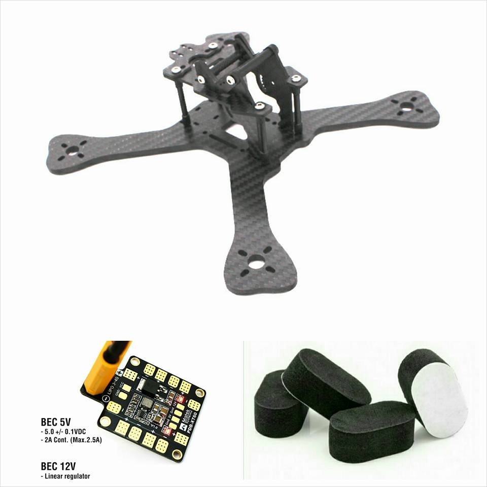 ФОТО FPV Drone GEP-TX 5 210MM Carbon Fiber X Quadcopter Frame Kit With Matek XT60 For QAV-X 214 GEPRC GEP-TX 5 QAV210 QAV-R 220