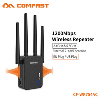 COMFAST 1200Mbps Home Wireless Extender Router Wifi Repeater 5Ghz Long Wifi Range Extender Booster 4*2dbi Antenna CF WR754AC