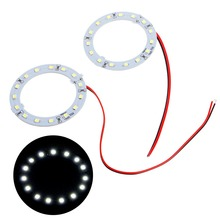 E93  2016 newest2Pcs Bright White 60mm Angel Eyes 15 SMD LED Ring Car Lightfree shipping