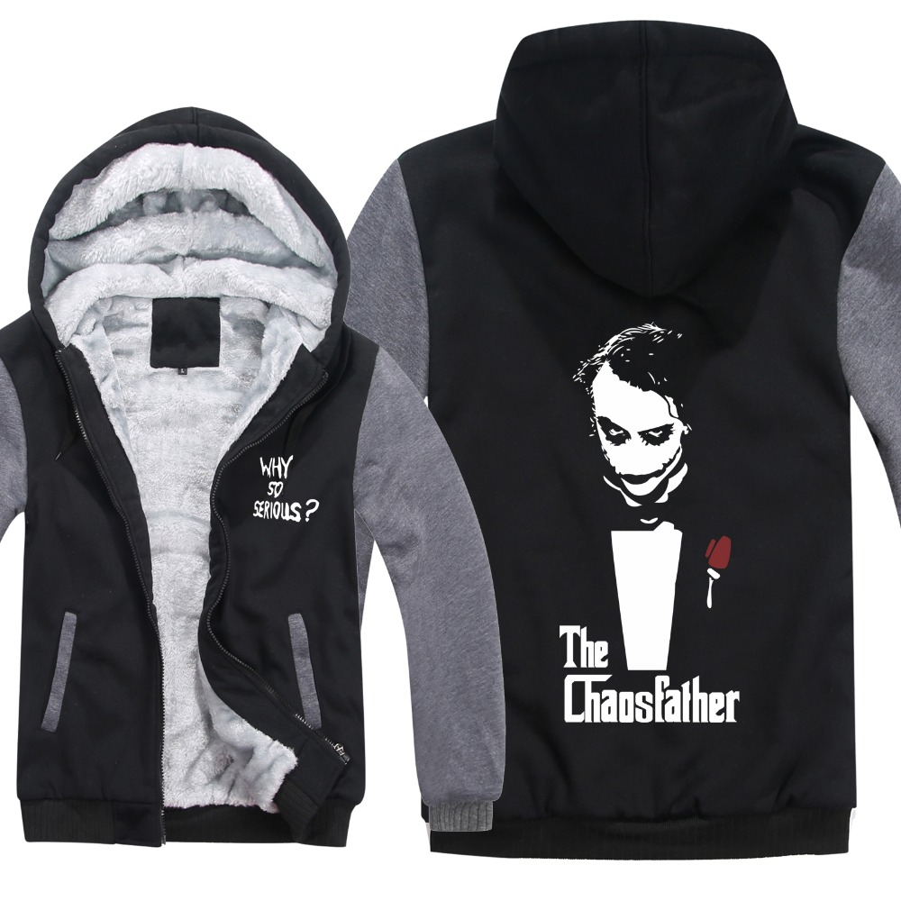 New Arrival Thicken Fleece Jacket The Dark Knight Joker