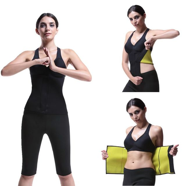 Neoprene Slimming Belt Sweat Women Body Tummy Shaper Belly Underwear Adjustable Excercise Fitness Sports Tops Gym Running 1