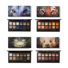 Hot Animal Explorer 12 Color Flash Matte Eye Shadow Palette Shadow Long Lasting Nude Makeup Cosmetic Set with Makeup Brush