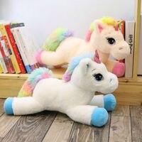Soft Rainbow Unicorn Plush Toy 80 cm Adorable Plush Unicorn Stuffed Animal Unicorn Plush Toys Brand For Children