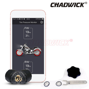 Image 2 - TPMS Motorcycle BY Bluetooth control Tire Pressure Monitoring System Mobile Phone APP Detection 2 External Sensors CHADWICK 200