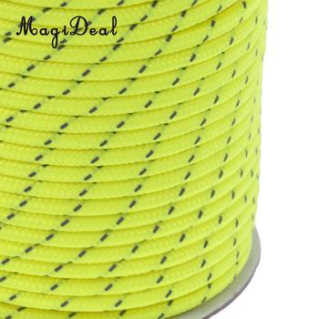 MagiDeal Outdoor 5mm 50m Reflective Guyline Camping Tent Rope Guy Line Cord Paracord For Climbing Fishing Rafting Accessories
