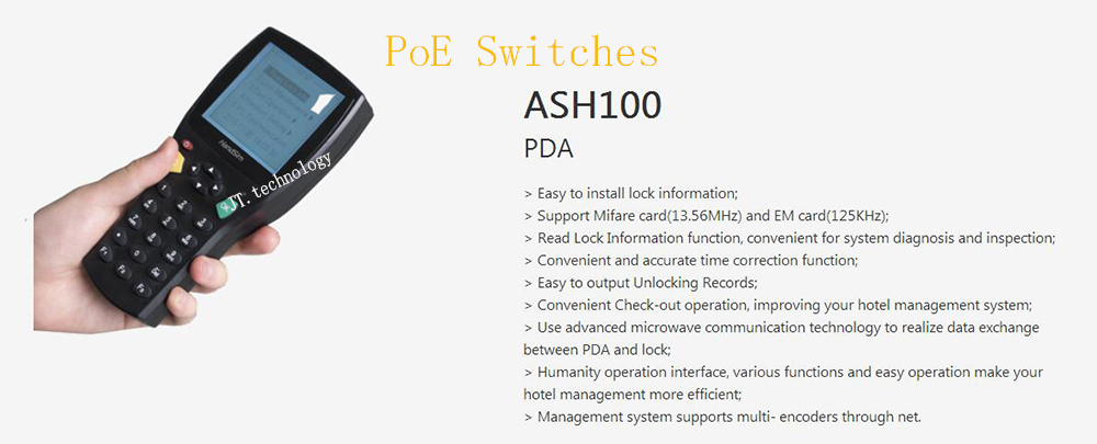 Free Shipping DAHUA Security CCTV Intelligent Building Smart Lock Accessories Mifare EM Card Support PDA Without Logo ASH100