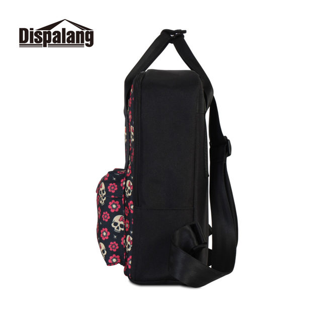 Dispalang Design Backpack For Women Skull Flower Printing Laptop Backpacks  For Girls School Bags Ladies Casual Traveling Bags 2e04e7745a859