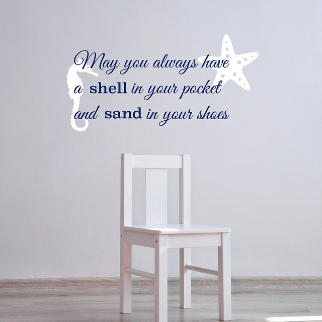 May You Always Have A Shell In Your Pocket Beach Wall Decals Summer Holiday  Starfish Wall