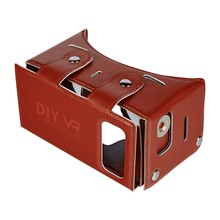 DIY VR 1.0 Virtual Reality Glasses DIY PU Leather Cardboard 3D VR Box Glasses Headset Universal for Android iOSSmart Phones