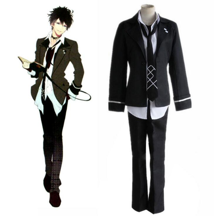 Diabolik Lovers Mukami Ruki Cosplay Costume Full Set School Uniform ( Jacket + Vest + Shirt + Pants + Tie ) Halloween Clothes