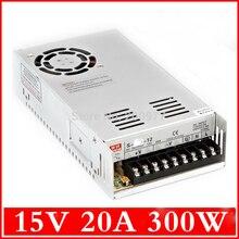 1 шт. высокое качество Импульсный Источник питания мощность suply блок DC 15 В 20A 300 Вт питания ac dc конвертер