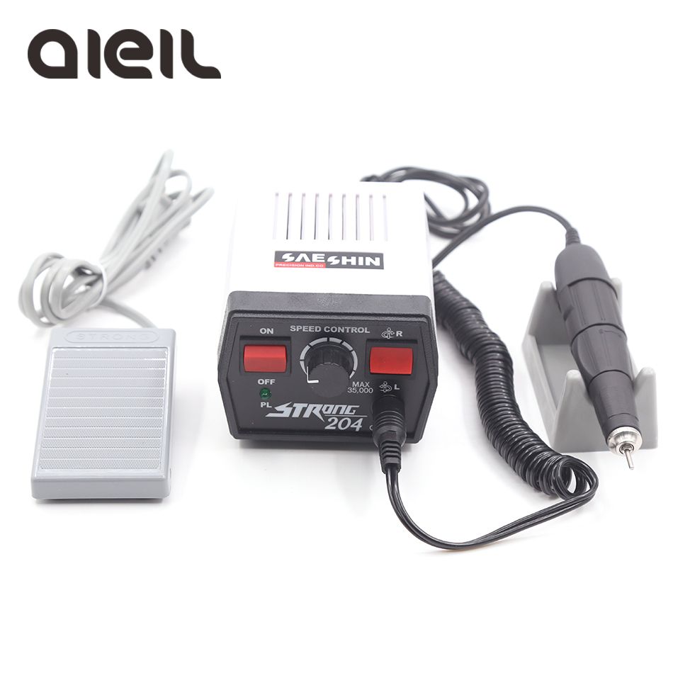 Strong 204 102L Nail Drill 35000 Machine For Manicure Apparatus For Manicure Machine For Nail Electric Nail Drill Pedicure Tools