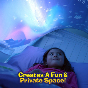 Image 2 - BUY 1 TENT GET 1 LED 3D Printed Quality Dream Tents  With Led Light Unicorn Space Twin Size Children Kid Birthday Christmas Gift