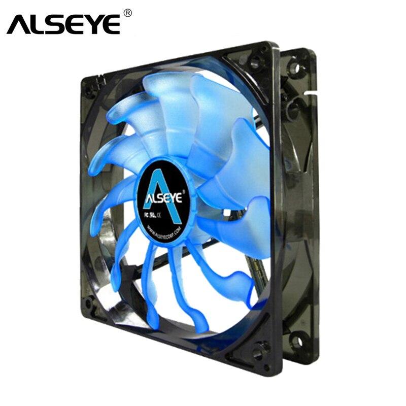 ALSEYE ventilador pc 120mm 12v 3pin 1800rpm 96CFM Alto ventilador del caso del flujo de aire para la computadora