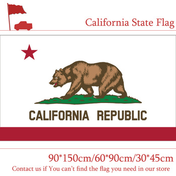60*90cm 90x150cm California State Flag 3x5 American Flag 30*45cm Car Flag For Home Vote image