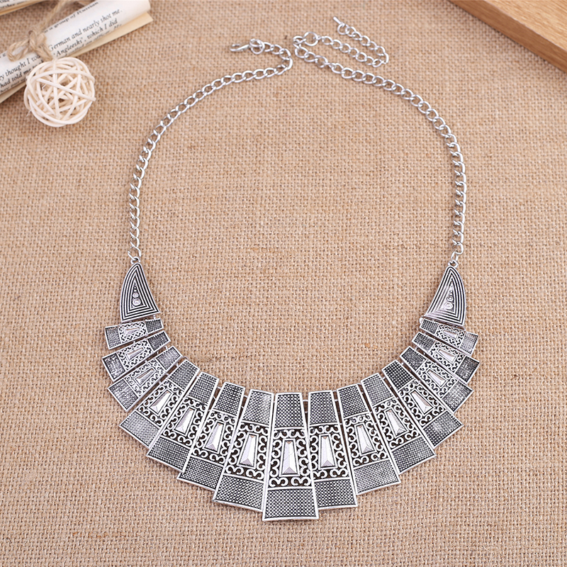 Fashion necklace jewelry antic silver neck Bohemian metal statement necklace high quality woman Necklace wholesale free shipping in Chain Necklaces from Jewelry Accessories