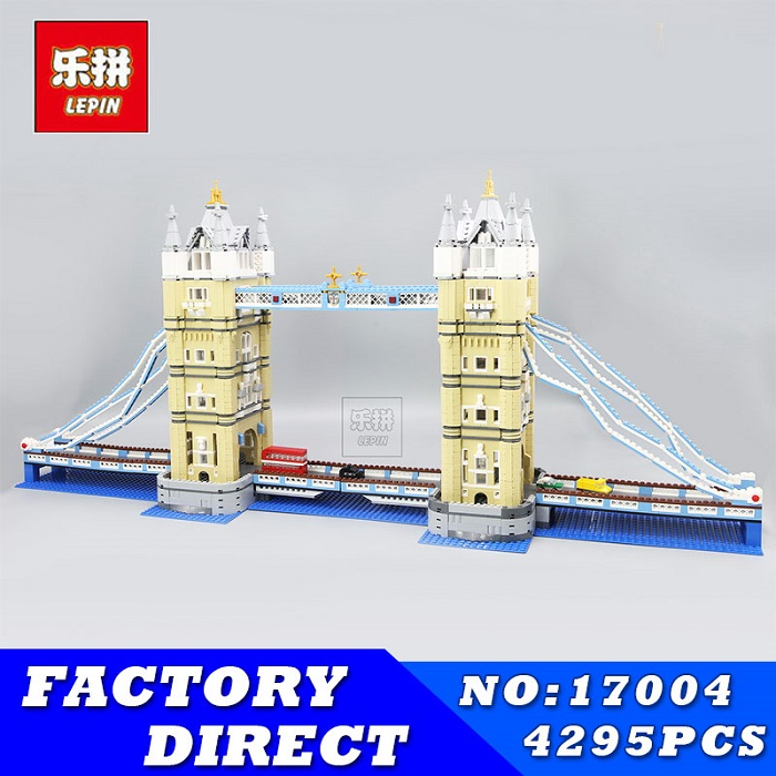 LEPIN 17004 4295Pcs London Bridge Model kits Building Blocks Brick Toys for Children Compatible with 10214 Christimas Gift lepin 14042 knights heavy armed mobile tracker model building blocks brick toys for children christma gift legoinglys 72006