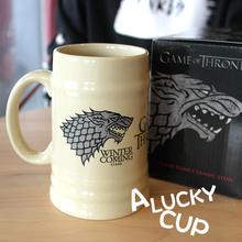 Juego de tronos dragón taza de café taza de lobo leche tazas y tazas Regalo de Cumpleaños Drinkware 500 ml