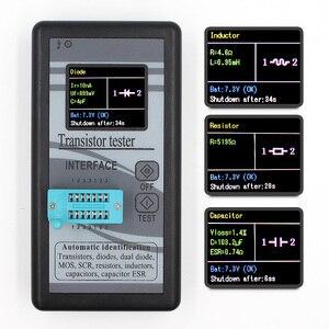 Image 1 - متعددة الأغراض الترانزستور تستر 128*160 ديود الثايرستور السعة المقاوم الحث MOSFET ESR مقياس قدرة دائرة التوالي TFT اللون العرض