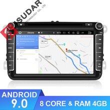 Isudar Car Multimedia player GPS Android 9 2 Din Per VW/Volkswagen/POLO/PASSAT/Golf Posteriore vista della macchina fotografica Dello Schermo di Tocco Capacitivo