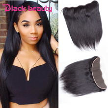 Brazilian Lace Frontal Closure Straight 13×4 Ear To Ear Brazilian Virgin Hair Straight Lace Frontal Brazilian Human Hair Bundles