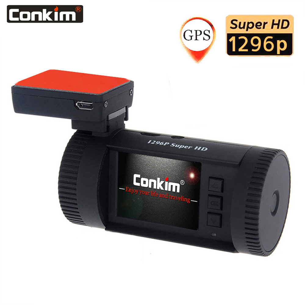 Conkim Dash Camera 1296P Full HD Car DVR Digital Car Video Recorder Pro Capacitor Mini 0826P GPS Dashcam Auto Registrar Car Cam-in DVR/Dash Camera from Automobiles & Motorcycles    1