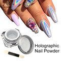 1 Box Nail Glitter Rainbow Chrome Powder Colorful Laser Silver Pigments Dust Nail Decoration Holographic Laser Powder