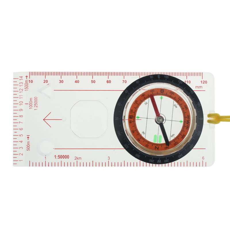 Ruler Scale Liquid-Filled-Compass Hiking Professional Portable Camping Magnifier Multifunctio