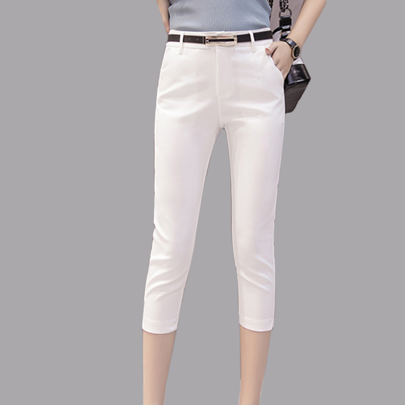 Pants   For Women Trousers Summer High Elasticity Office Lady   Pant     Capri   2019 New Fashion Formal Trouser For Ladies Pencil   Pants