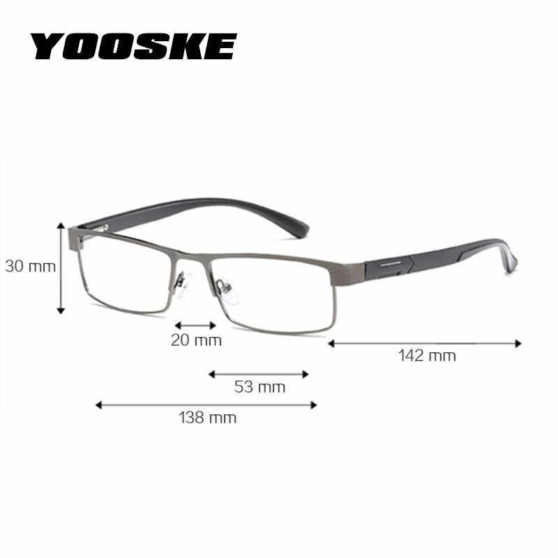3f421b482cd7 ... YOOSKE Non spherical lens Reading Glasses Men Titanium alloy Presbyopia  Eyeglasses with diopters Hyperopia Prescription Eyewear ...