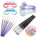 5Pcs/Set Nail Art Flat Top Brush Gel Tips Nail Art Salon Acrylic UV Gel Salon Pen DIY Painting Drawing Nail Polish Brushes