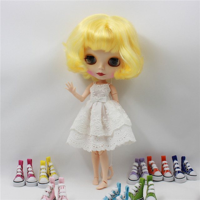 TBL Neo Blythe Doll Yellow Hair Jointed Body