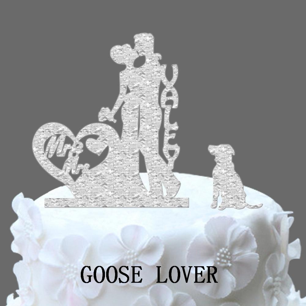 Glitter Goldensilver Mr And Mrs Cake Topper Wedding Elegant Wedding
