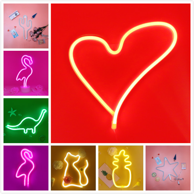Wedding Party 2019 Easy And Simple To Handle Collection Here Neon Light,led Cat Sign Shaped Decor Light,wall Decor For Christmas,birthday Party,kids Room Living Room