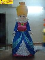 Szybkie niestandardowy królowa księżniczka sukienka cartton Maskotka kostiumy Dla Dorosłych rozmiar Kostium ekspresową bezpłatną wysyłką