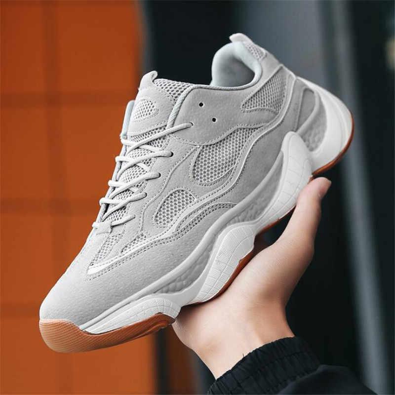 Nam 2019 Kanye West Thời Trang Lưới Nhẹ Thoáng Khí Nam Giày Casual Nam Giày Zapatos Hombre Siêu Sao Tenis 350 Tăng Cường