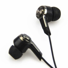Metal  Earphone 3.5mm Wired Ear Phones With Mic Stereo Bass Headset For S6 Xiaomi Phone MP3 VS Glow Zipper
