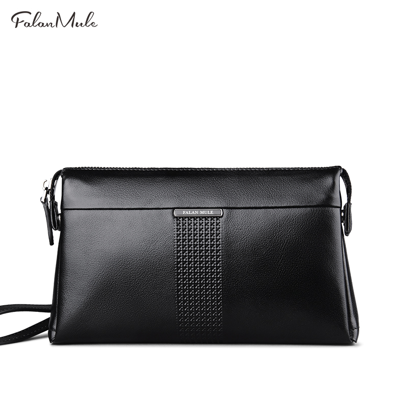 FALAN MULE High Quality Luxury Men Wallets Genuine Leather Wallet Men Male Clutch Handy Bag England Fashion Style Card Holder vintage genuine leather wallet high quality large capacity men s id card wallets with phone bag clutch multifunction male purses