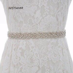 الماس حزام الشظية الراين حزام ثوب الزفاف كريستال الزفاف شاح للاكسسوارات اللباس يمكن تخصيص أي حجم J116S