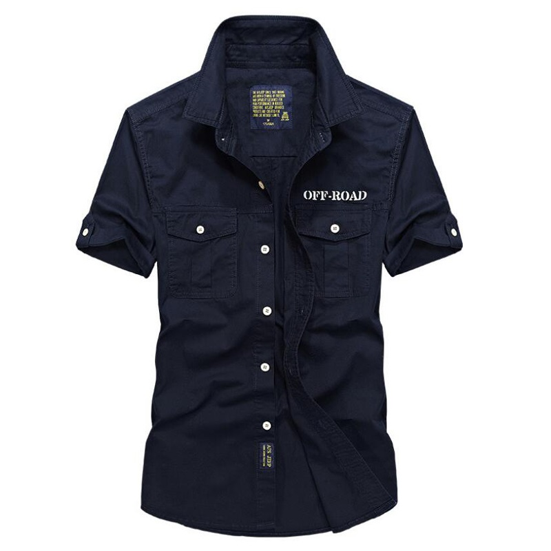 Summer Shirt Men Cotton Shirt Male Short Sleeve Turn down Collar Regular Camisa masculina Solid Plus Size Mens Shirts-in Short Sleeve Shirts from Men's Clothing on AliExpress - 11.11_Double 11_Singles' Day 1