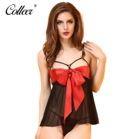 COLLEER Women Thin Lace Bra Sexy Neck Hung Bra Backless Belt Soft Cup Bra V Neck