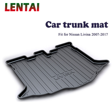 EALEN 1PC Car rear trunk Cargo mat For Nissan Livina 2007 2008 2009 2010 2011 2012 2013 2014 2015 2016 2017 Car Anti-slip mat car rear trunk security shield shade cargo cover for ford edge 2009 2010 2011 2012 2013 2014 2015 black beige