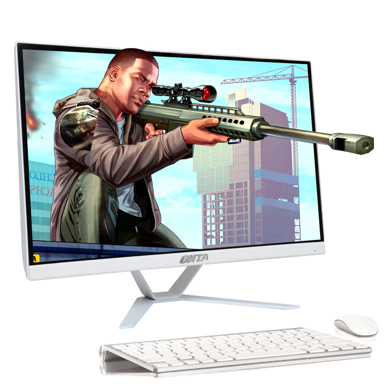 Display Screen Monitor 24  Inch CPU 8th I5 8500 RAM 16GB DDR4 HD 1TB SSD OS Win7 Desktop Computer Pc