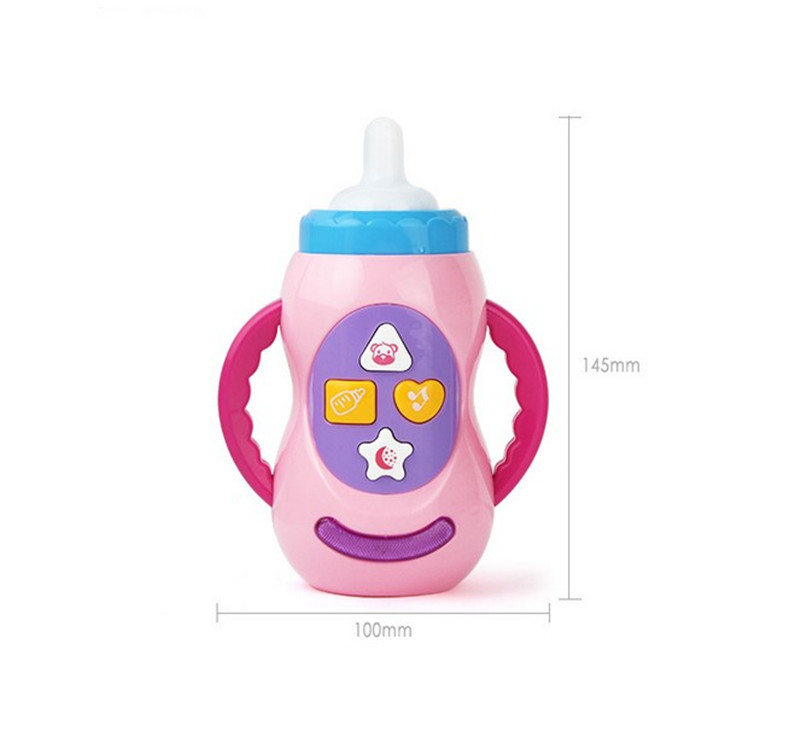 Купить с кэшбэком Huan qiu xin mao Baby Educational toy children musical feeding bottle toys with sound and light / milk bottle learning toy