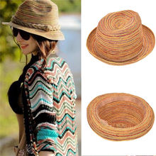 Moda mujer Sun sombreros trigo Panamá Beach Boater sombreros de verano para  las mujeres Chapeau señoras de ala ancha Burr rafia . d3774653c9a