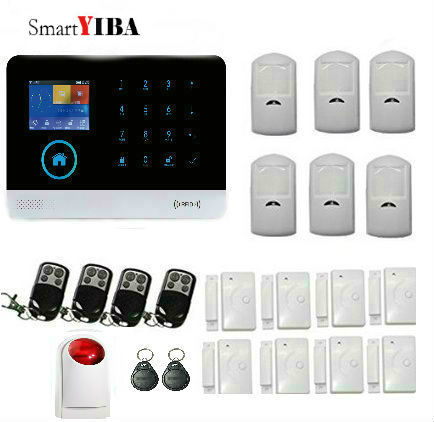 SmartYIBA WIFI DIY Smart Home Security Alarm Systems Kit RFID GSM 3G Alarm System SMS APP Remote Control Alarm Host