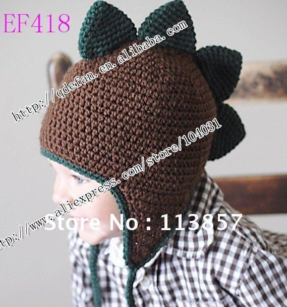 b19b5dc5e37 100% organic cotton(10 lot ) hat FREE SHIPPING-dinosaur hat-Crochet baby hat--Photography  prop-boys or girls-Custom to order
