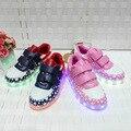 Новинка осени 2019  модная светящаяся обувь с пятиконечной звездой  синяя повседневная детская обувь с usb-зарядкой  обувь для мальчиков