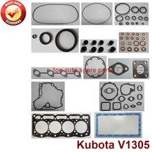 complete Overhaul engine full gasket set kit for Kubota engine: V1305  4D76